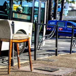 photo of chair on the street