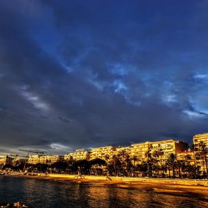Sunset Litghtening The Croisette Cannes