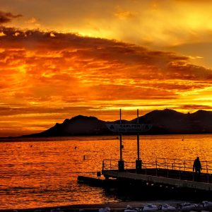 Amazing Sunset Croisette Cannes